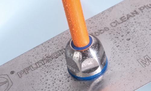PFLITSCH Blueglobe Cleanplus hygiejnisk kabelforskruning monteret